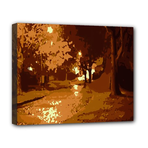 Night Lights Deluxe Canvas 20  x 16