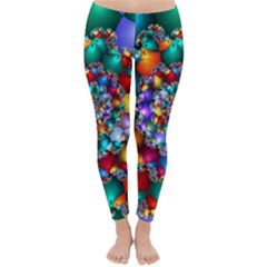 Rainbow Spiral Beads Classic Winter Leggings