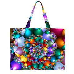 Rainbow Spiral Beads Large Tote Bag