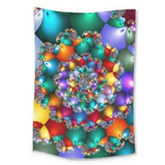 Rainbow Spiral Beads Large Tapestry