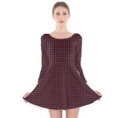 Celtic Knot Black Small Long Sleeve Velvet Skater Dress