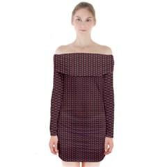 Celtic Knot Black Small Long Sleeve Off Shoulder Dress