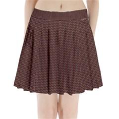Celtic Knot Black Small Pleated Mini Skirt