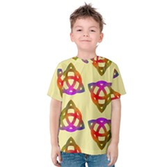 Celtic Knot Pastel Large Kids  Cotton Tee
