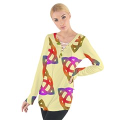 Celtic Knot Pastel Large Women s Tie Up Tee