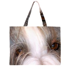 Bearded Collie Eyes Large Tote Bag