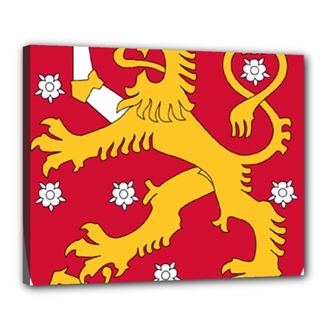 Coat of Arms of Finland Canvas 20  x 16