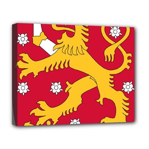 Coat of Arms of Finland Deluxe Canvas 20  x 16