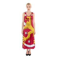 Coat of Arms of Finland Sleeveless Maxi Dress