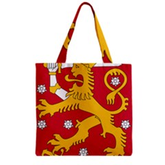Coat of Arms of Finland Zipper Grocery Tote Bag