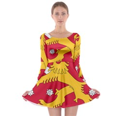 Coat of Arms of Finland Long Sleeve Skater Dress