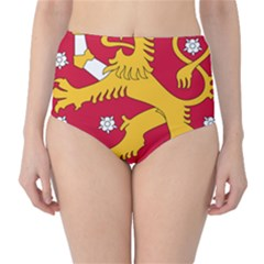Coat Of Arms Of Finland High Waist Bikini Bottoms