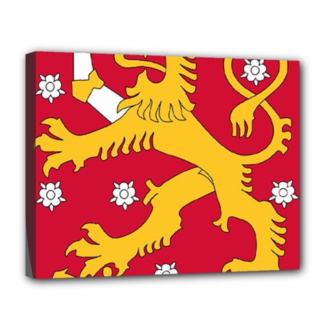 Coat of Arms of Finland Canvas 14  x 11