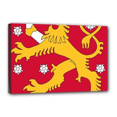 Coat of Arms of Finland Canvas 18  x 12