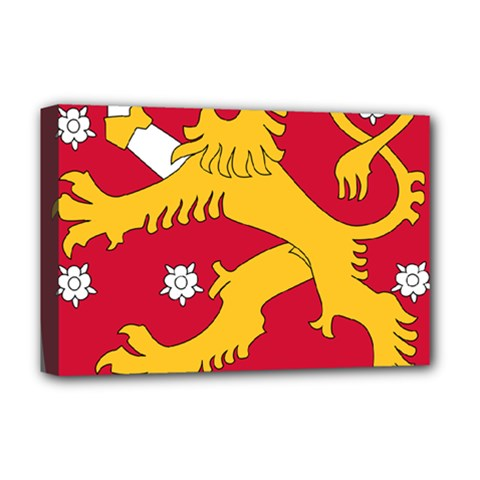 Coat of Arms of Finland Deluxe Canvas 18  x 12