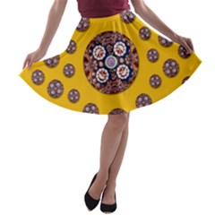 I Can See You A-line Skater Skirt