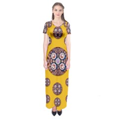 I Can See You Short Sleeve Maxi Dress