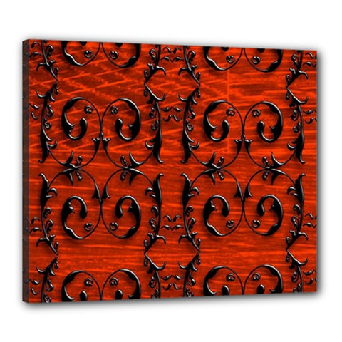 3d Metal Pattern On Wood Canvas 24  X 20
