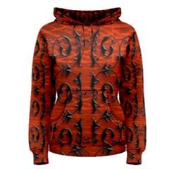 3d Metal Pattern On Wood Women s Pullover Hoodie