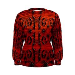 3d Metal Pattern On Wood Women s Sweatshirt