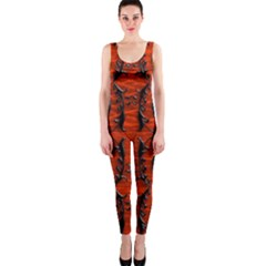 3d Metal Pattern On Wood Onepiece Catsuit