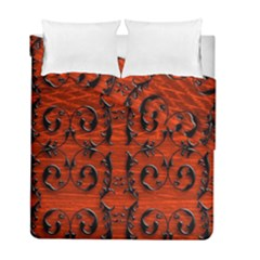 3d Metal Pattern On Wood Duvet Cover Double Side (full/ Double Size)
