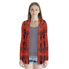 3d Metal Pattern On Wood Cardigans