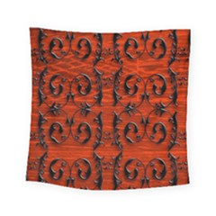 3d Metal Pattern On Wood Square Tapestry (small)