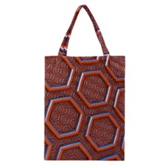 3d Abstract Patterns Hexagons Honeycomb Classic Tote Bag