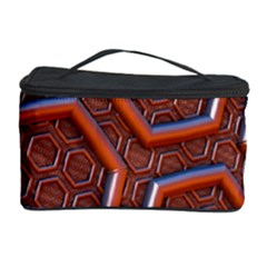 3d Abstract Patterns Hexagons Honeycomb Cosmetic Storage Case