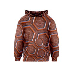 3d Abstract Patterns Hexagons Honeycomb Kids  Pullover Hoodie