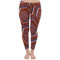 3d Abstract Patterns Hexagons Honeycomb Classic Winter Leggings