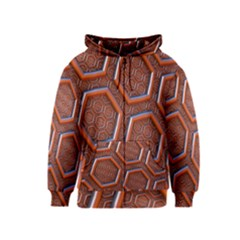 3d Abstract Patterns Hexagons Honeycomb Kids  Zipper Hoodie