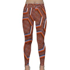 3d Abstract Patterns Hexagons Honeycomb Classic Yoga Leggings
