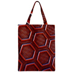 3d Abstract Patterns Hexagons Honeycomb Zipper Classic Tote Bag