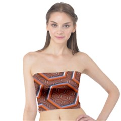 3d Abstract Patterns Hexagons Honeycomb Tube Top