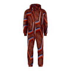 3d Abstract Patterns Hexagons Honeycomb Hooded Jumpsuit (Kids)