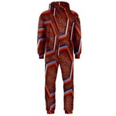 3d Abstract Patterns Hexagons Honeycomb Hooded Jumpsuit (Men)