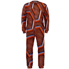 3d Abstract Patterns Hexagons Honeycomb OnePiece Jumpsuit (Men)