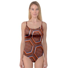 3d Abstract Patterns Hexagons Honeycomb Camisole Leotard