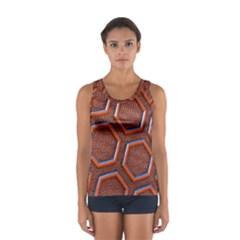 3d Abstract Patterns Hexagons Honeycomb Women s Sport Tank Top