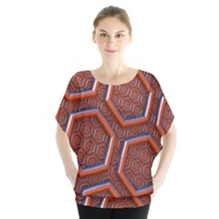 3d Abstract Patterns Hexagons Honeycomb Blouse