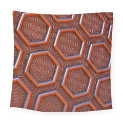 3d Abstract Patterns Hexagons Honeycomb Square Tapestry (large)