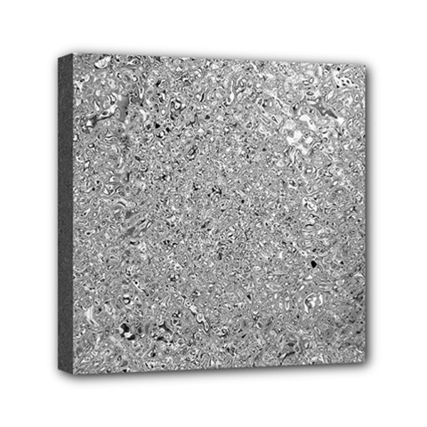 Abstract Flowing And Moving Liquid Metal Mini Canvas 6  X 6