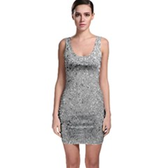 Abstract Flowing And Moving Liquid Metal Sleeveless Bodycon Dress