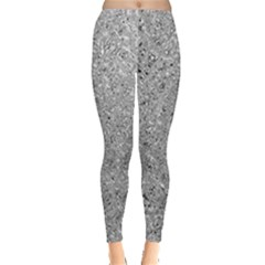 Abstract Flowing And Moving Liquid Metal Leggings