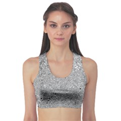 Abstract Flowing And Moving Liquid Metal Sports Bra