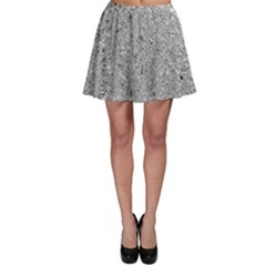 Abstract Flowing And Moving Liquid Metal Skater Skirt