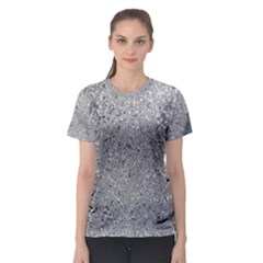 Abstract Flowing And Moving Liquid Metal Women s Sport Mesh Tee