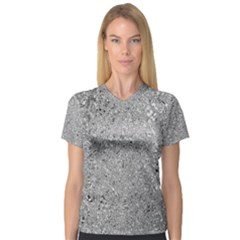 Abstract Flowing And Moving Liquid Metal Women s V-Neck Sport Mesh Tee